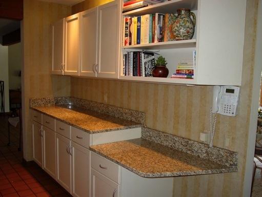 this kitchen originally was all white laminate with oak laminate trim